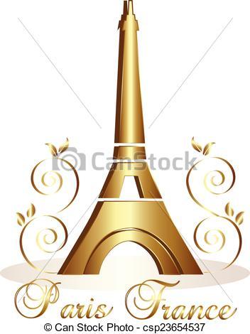 Gold paris tower clipart.