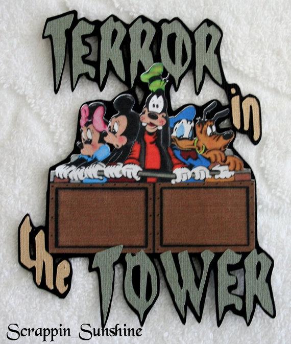 DISNEY Terror in the Tower Die Cut Title Paper by scrappinsunshine.