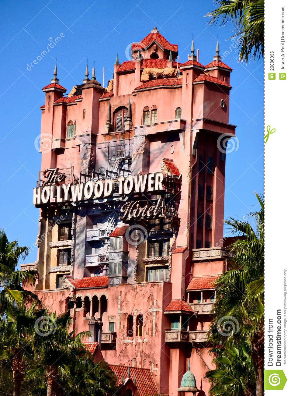 The Twilight Zone Tower Of Terror At Disney's Hollywood Studios.