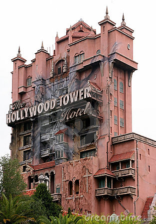 Tower Of Terror Road Sign Editorial Image.
