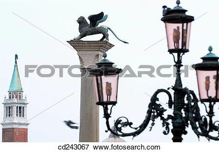 Picture of St. Mark's Square and tower of San Giorgio Maggiore in.