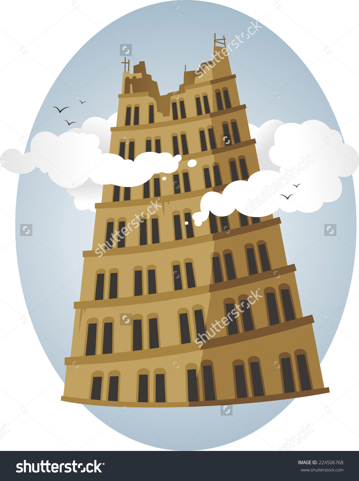 Clipart tower of babel.