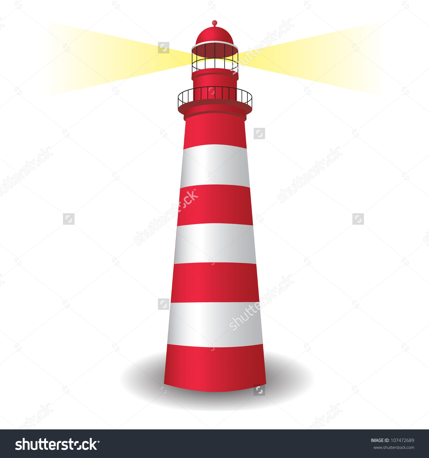 Lighthouse Icon Light Stock Vector 107472689.