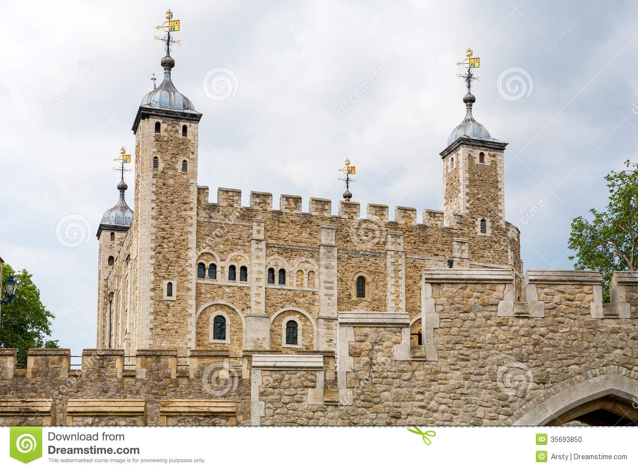 Tower Of London. England Stock Photo.