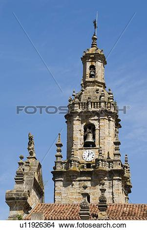 Stock Photo of Baroque 18th Century Tower on the Church of San.