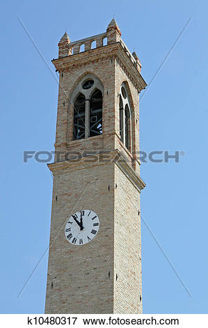 Picture of Bell Tower of the Church in Lio Piccolo k10480317.