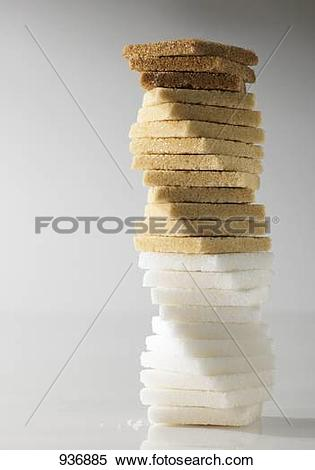 Stock Image of Tower of different types of sugar 936885.