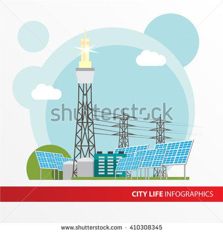 Solar Tower Stock Vectors & Vector Clip Art.