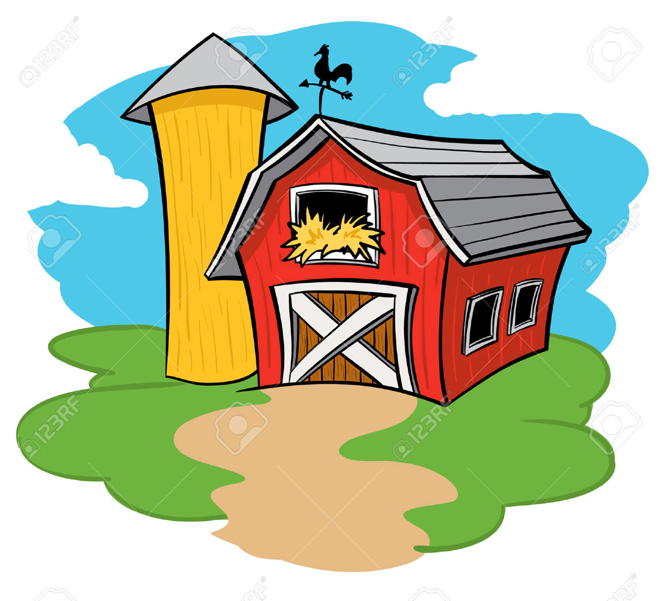 Barn And Silo Royalty Free Cliparts, Vectors, And Stock.