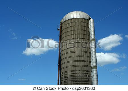 Stock Illustration of Grain silo.