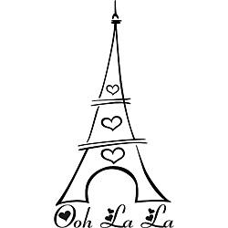 Ooh La La Eiffel Tower Vinyl Wall Art Overstock #qgHTGD.