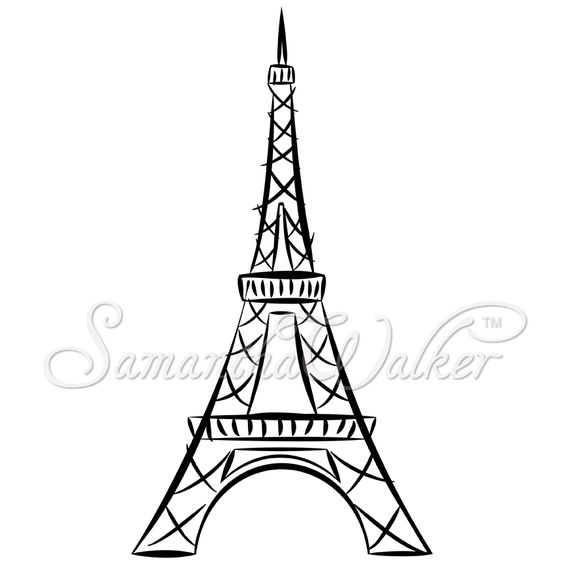 easy eiffel tower drawing.