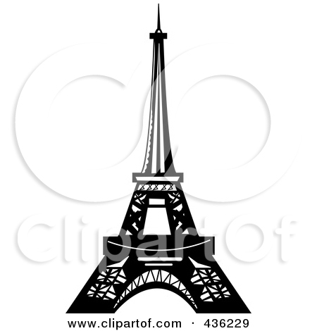 Black And White Design Of The Eiffel Tower Posters, Art Prints by.