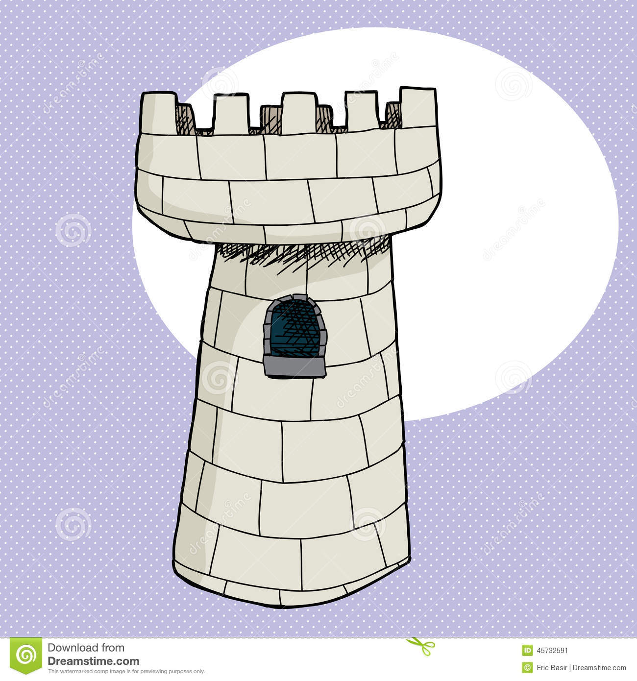 Castle Tower Stock Vector.