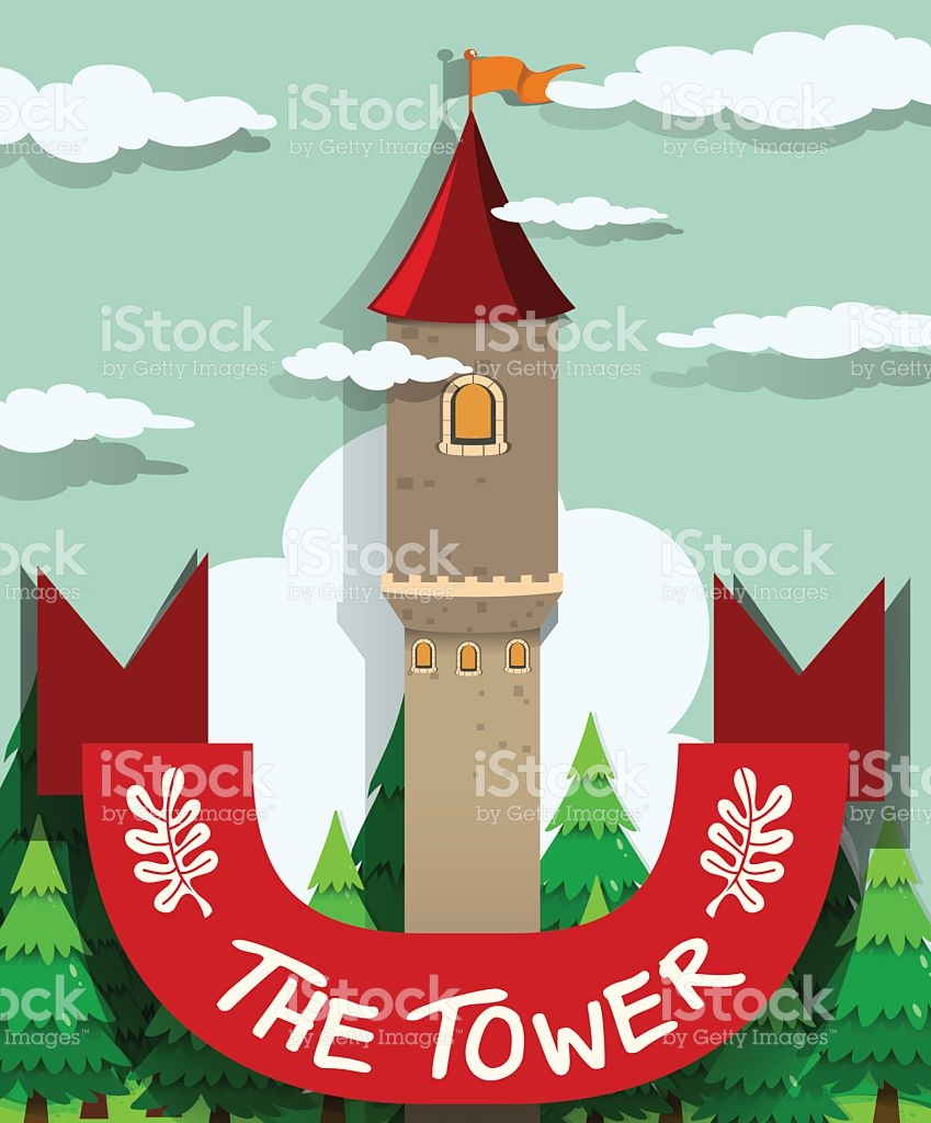 Tall Tower With Single Window stock vector art 504828930.