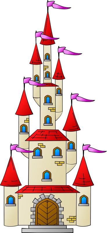 Free Cartoon Castle Tower Clip Art.