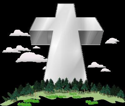 Image: Taller Than Trees Cross Image.