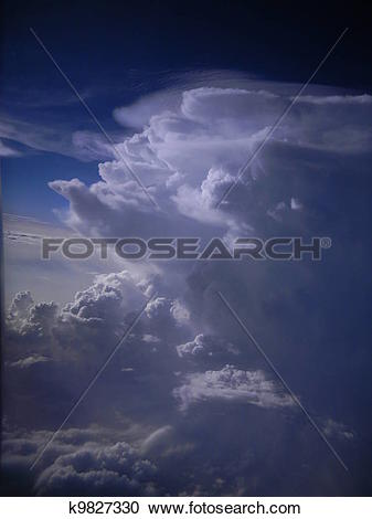 Stock Photography of Towering cumulus clouds k9827330.