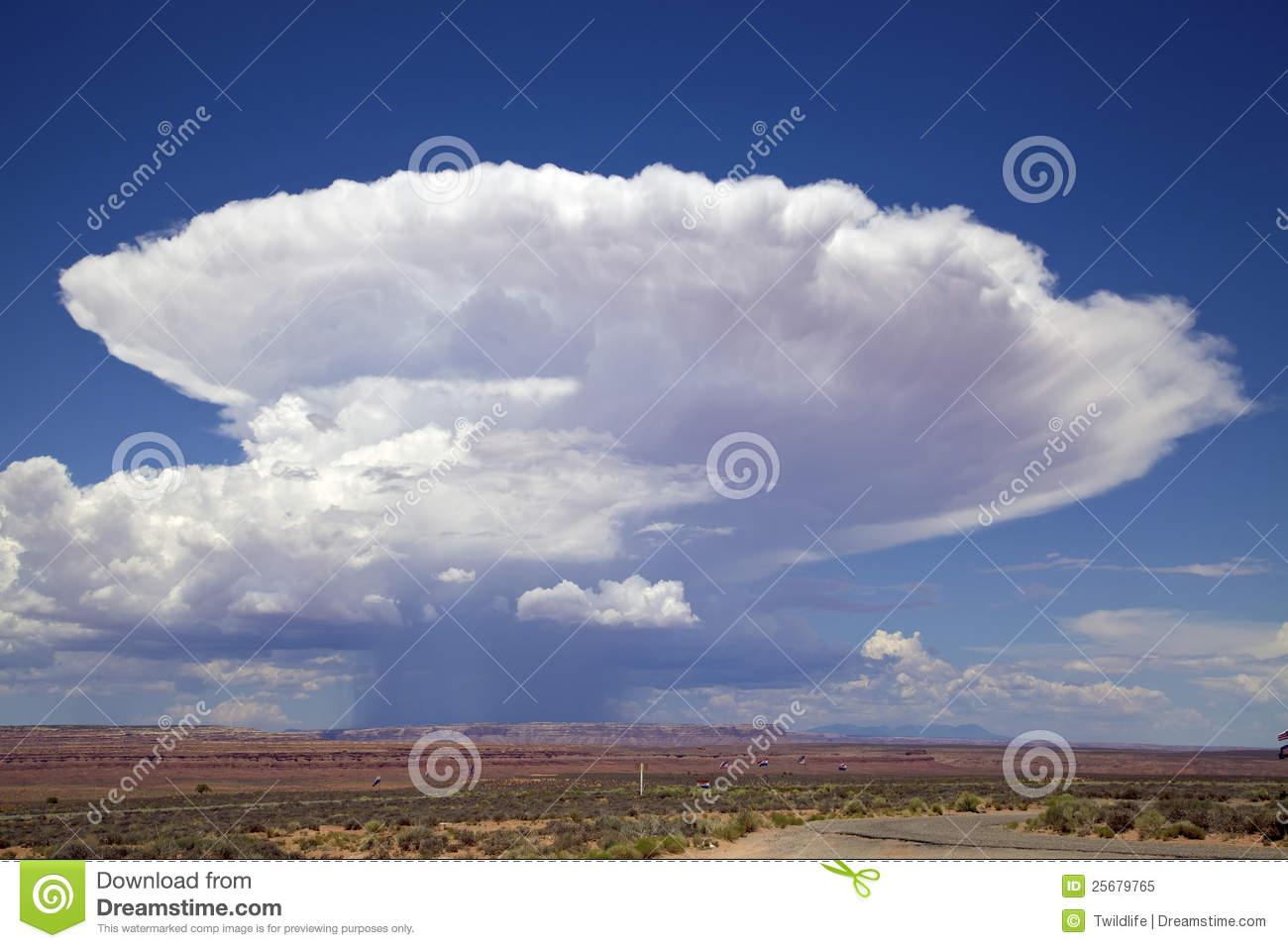 Cumulonimbus Thunderstorm Cloud Stock Image.