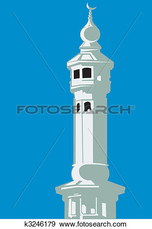 Stock Illustration of mosque dome k3246179.