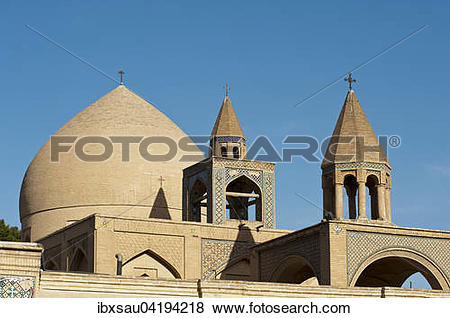 Pictures of Vank Cathedral, Armenian Apostolic Church, dome and.