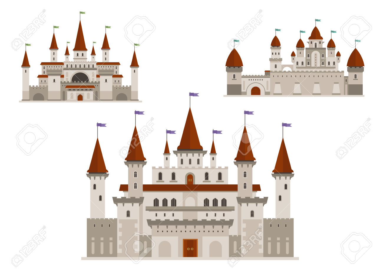 Medieval Palaces Or Royal Castles, Ancient Fort Or Residential.