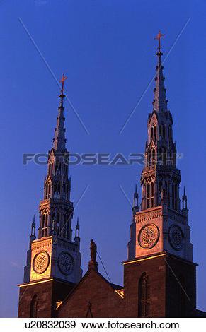 Stock Photograph of Twin spires u20832039.