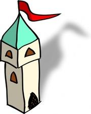 Kuwait Tower Clip Art, Vector Kuwait Tower.