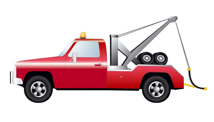 Animated tow truck clip art.