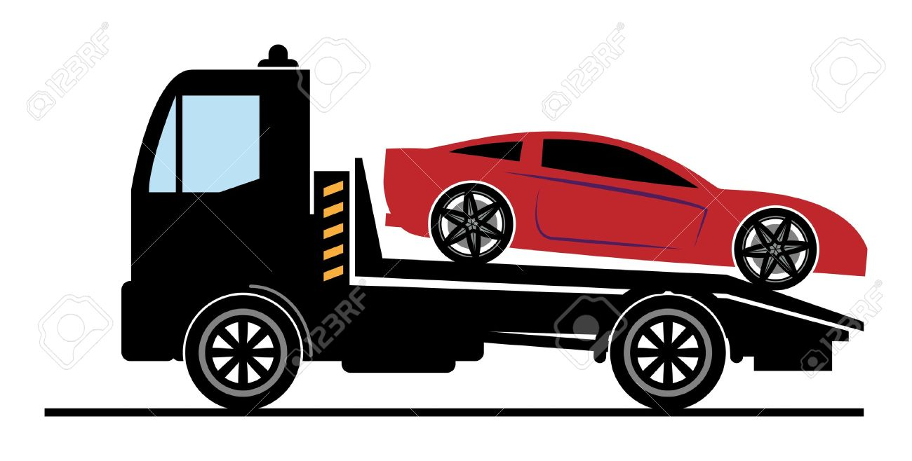 Car Towing Clipart.