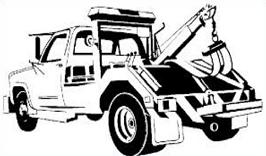 Towing truck clipart.