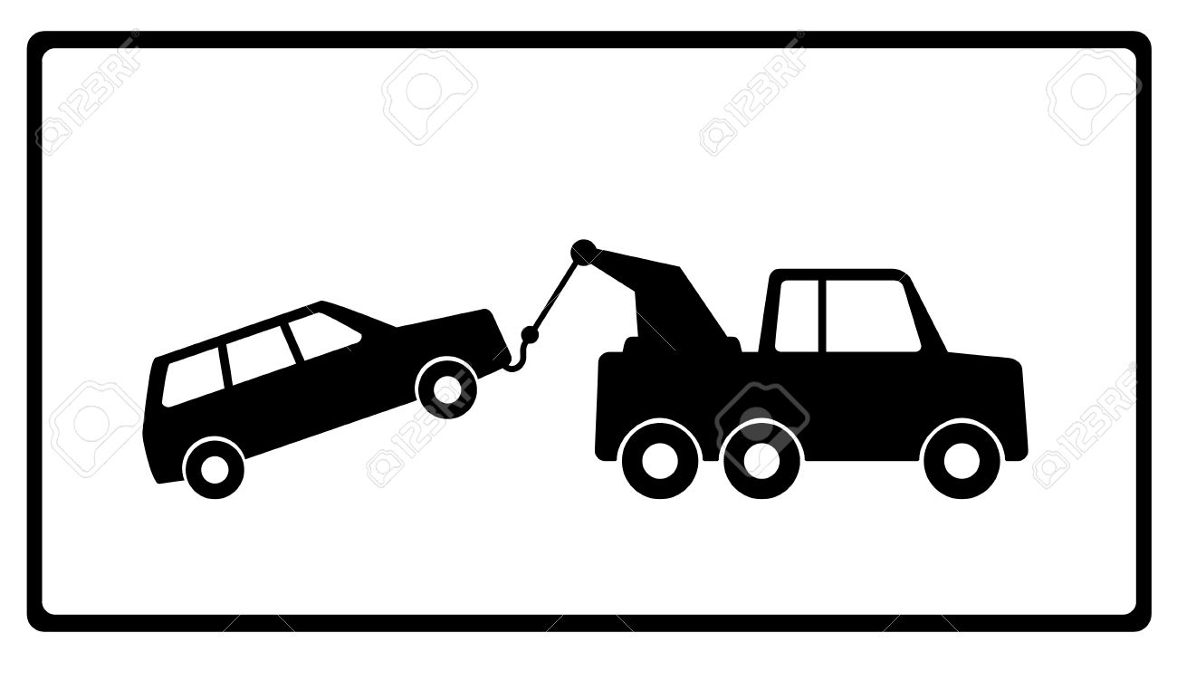 Towing A Car With Vehicle Breakdown Royalty Free Cliparts, Vectors.