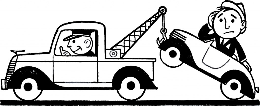 Car Being Towed Clipart.
