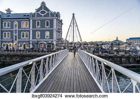 "Stock Photo of ""Swing Bridge and African Trading Post, Victoria."