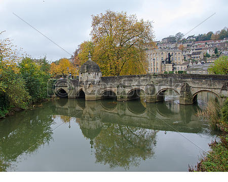 Stock Image of Town Bridge, Bradford on Avon, UK.