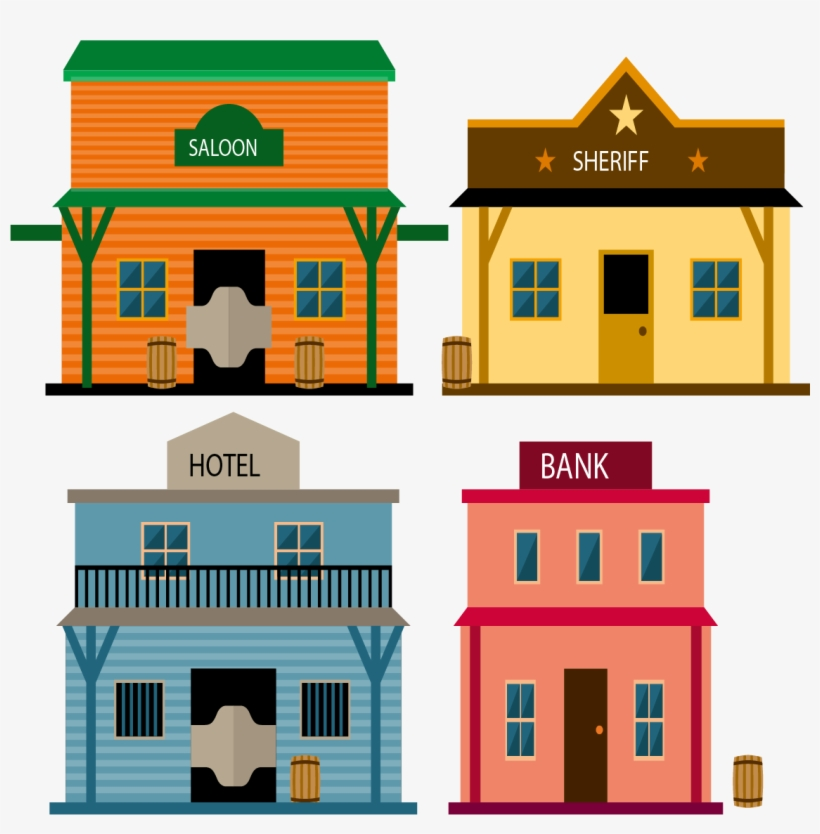 Clip Art Town Buildings Transprent Png Free.