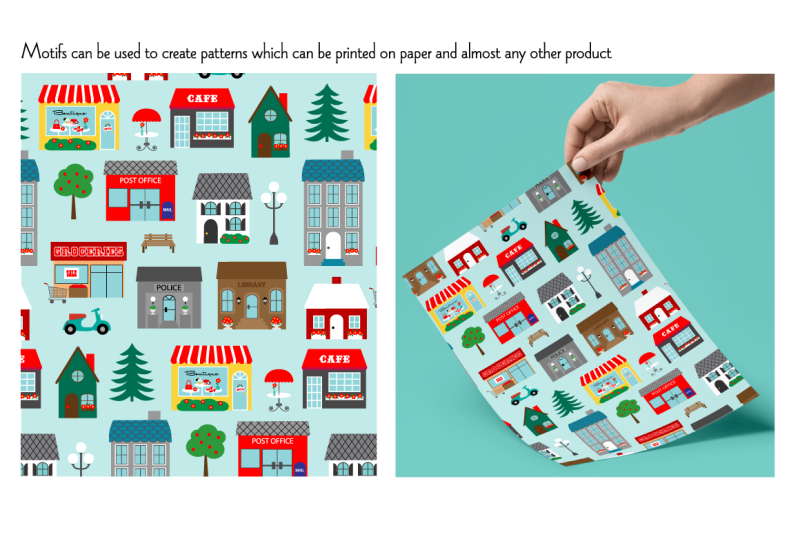 Town Buildings Clipart Graphics By Melissa Held Designs.