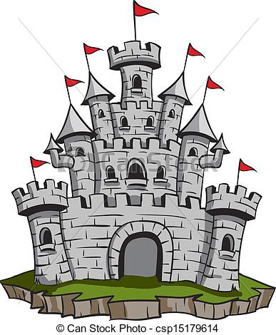 Vector Clip Art of Old Castle.