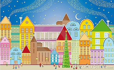 Town Stock Illustrations.