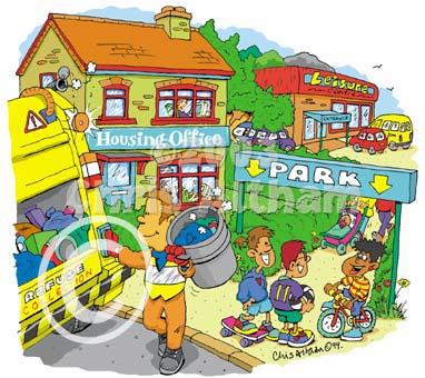 Town House Cartoons.
