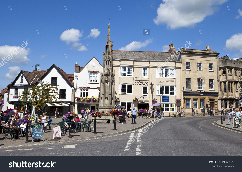 Glastonbury Town Centre Somerset England Stock Photo 149863121.