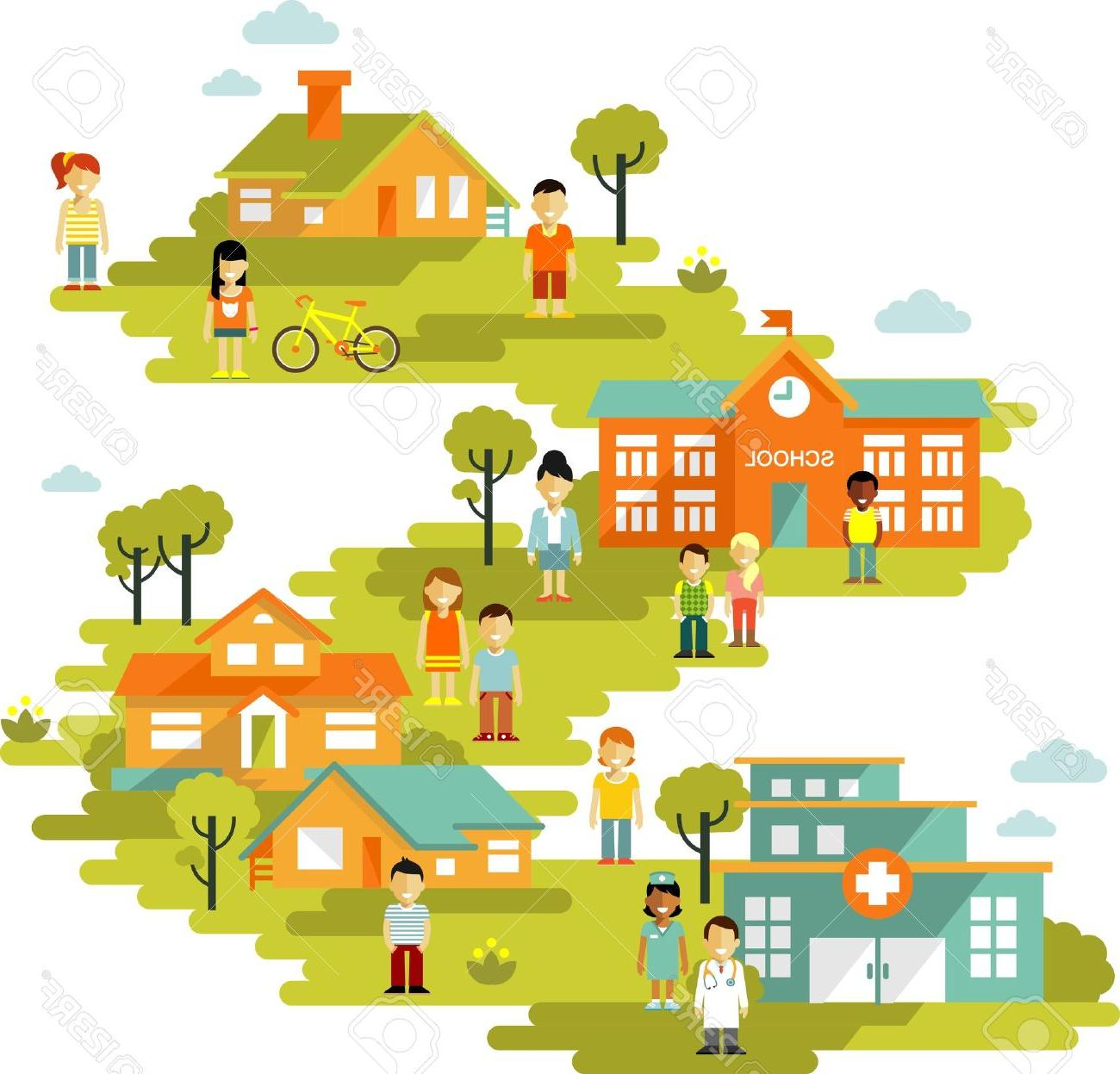 Best Town Clip Art Library » Free Vector Art, Images.