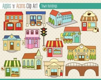 Town Clipart.
