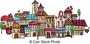 Old small town Vector Clip Art Royalty Free. 301 Old small town.