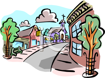Small Town Clipart.