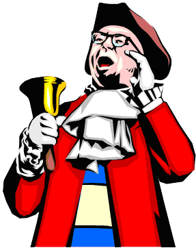 Image result for town crier picture clip art.