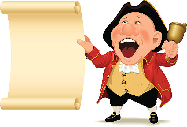 Town Crier and scroll » Clipart Station.