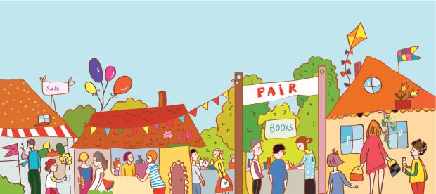 Town Festival Stalls Clip Art, Vector Images & Illustrations.