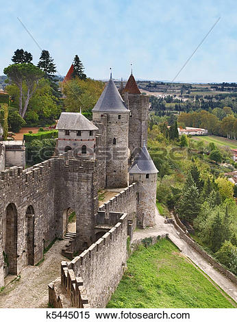 Stock Image of Carcassonne.