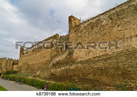 Pictures of Eptapyrgio the fortified wall in the Upper Town of.